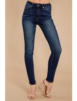 Perfect Aim Dark Wash Skinny Jeans by Kan Can Premier