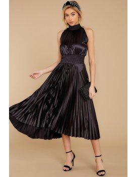 Classic Glamour Black Midi Dress by Do+Be