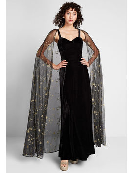 Celestial Occasion Velvet Maxi Dress by Collectif
