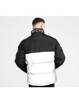 Deca Reflective Puffer Jacket   Black / Reflective by Nicce