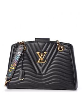 Louis Vuitton Calfskin New Wave Chain Tote Black by Louis Vuitton