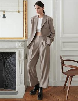 Grey Suit Blazer by Pixie Market
