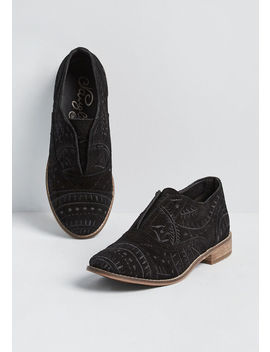 Something New Suede Oxford Flat by Modcloth
