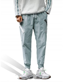 Popular Cross Design Pocket Decoration Jogger Pants   Blue Gray M by Zaful