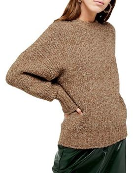 Boucle Crew Neck Sweater by Topshop