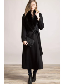 Carrie Loro Piana Wool Coat With Fox Fur Trim by Overland
