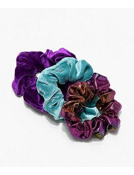 Stone + Locket Velvet & Metallic 3 Pack Scrunchies by Zumiez