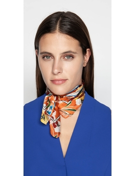 Floral Sunset Silk Scarf by Cue