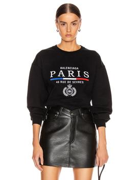 Paris Flag Crew Neck Sweatshirt by Balenciaga