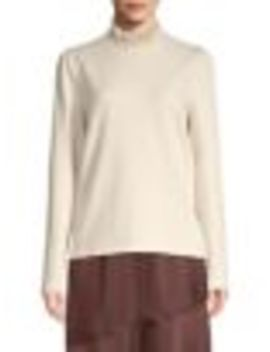 Pleated Neck Cotton Blend Top by Vero Moda
