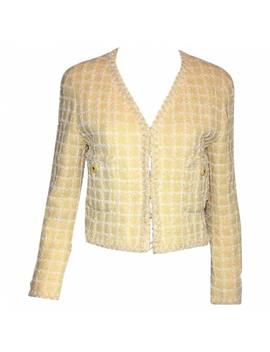 Yellow Tweed Jacket by Chanel
