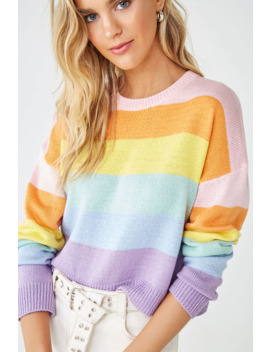 Rainbow Striped Sweater by Forever 21