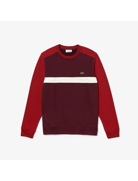 Men's Color Block Cotton Fleece Sweatshirt by Lacoste