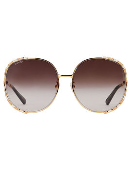 Oversized Rounded Sunglasses by Gucci