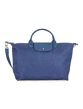 Large Leather Trimmed Top Handle Bag by Longchamp