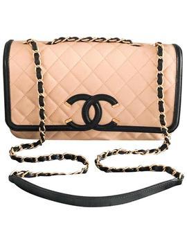 Classic Flap Caviar Cc Medium Two Tone Filigree Leather Shoulder Bag by Chanel