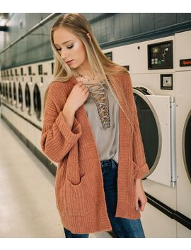 Chunky Ribbed Cardigan Sweater by Willow & Root