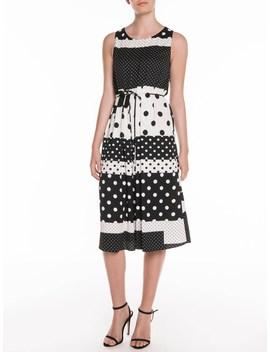 Collage Spot Midi Dress by Veronika Maine