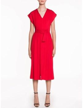 Drapey Topstitch Dress by Veronika Maine