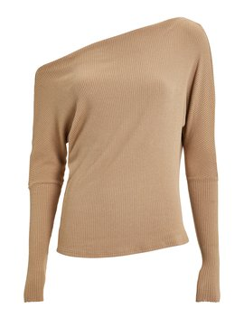 Slouch Ribbed Jersey Top by Enza Costa