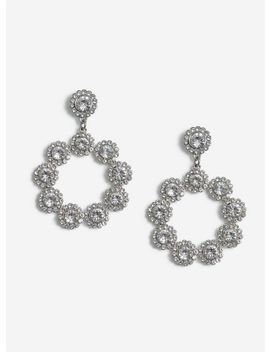 Silver Rhinestone Earrings by Miss Selfridge