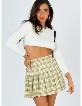 Lona Mini Skirt Green Multi by Princess Polly