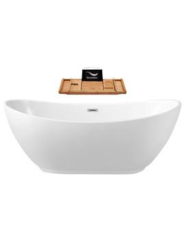 "66"" Streamline N 581 66 Fswh Fm Soaking Freestanding Tub With Internal Drain by Streamline"