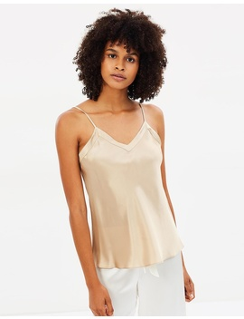 Silk V Neck Camisole by Ginia