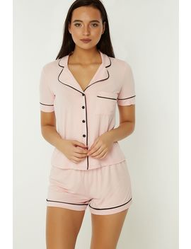 Pink Shirt And Short Set by Select