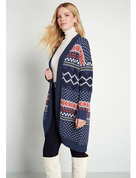 Weather Or Not Long Cardigan by Modcloth
