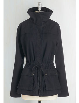 Escape Into Nature Cotton Jacket In Midnight by Modcloth