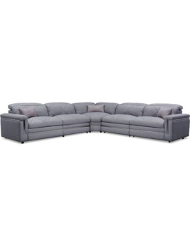 Revel 5 Piece Dual Power Reclining Sectional With 3 Reclining Seats by Value City Furniture