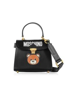 Moschino Black Teddy Bear Top Handle Satchel Bag by Moschino