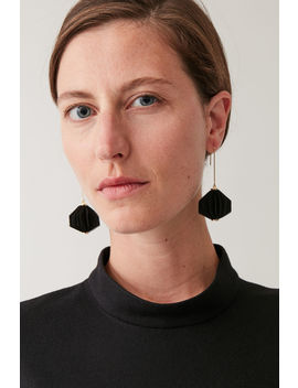 Layered Fabric Drop Earrings by Cos