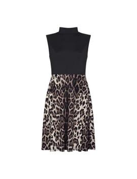 Leopard Print Skater Dress by Mela