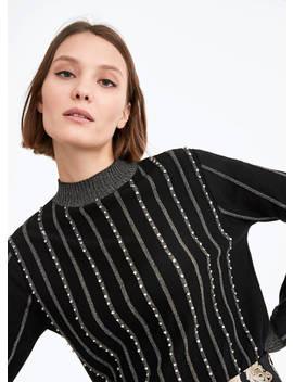Sweater De Malha Com Brilhos by Uterqüe