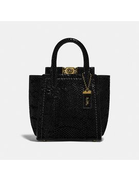 Troupe Tote 16 In Snakeskin by Coach