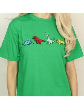 Dinosaur Family T Shirt by Boogzel Apparel
