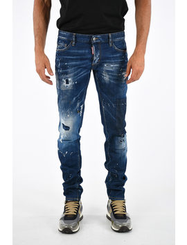 18cm Printed Slim Jeans by Dsquared2