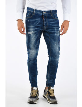 16cm Printed Tidy Biker Jeans by Dsquared2