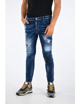 16cm Distressed Tidy Biker Jeans by Dsquared2