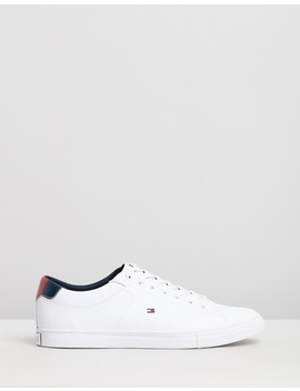 Essential Leather Collar Sneakers by Tommy Hilfiger