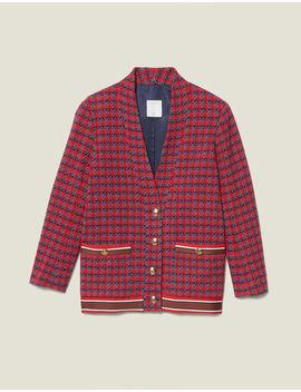 Cardi Coat En Tweed Et Boutons Bijoux by Sandro Paris