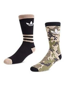 Adidas Trefoil 2 Pack Camo Crew   Unisex Socks by Adidas