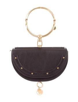 Nile 2018 Small Minaudiere Bracelet Black Leather Cross Body Bag by Chloé