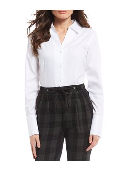 French Cuff Blouse by Karl Lagerfeld Paris