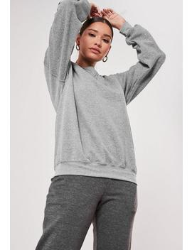 Grey Basic Plain Sweatshirt by Missguided