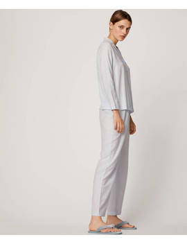 Striped 100% Cotton Trousers by Oysho