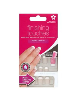 Superdrug Finishing Touches Fake Nails Short Pink by Superdrug