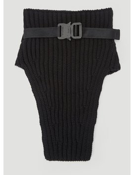 Knitted Neck Warmer In Black by 1017 Alyx 9 Sm